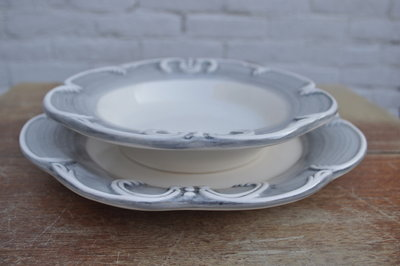 Pasta / soepbord - Kasteelservies handgemaakt aardewerk